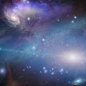 Filamenti nebulosi turbinano e si riuniscono nello spazio profondo — Foto Stock