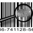 Finger Print Barcode with magnifying glass — Stock Photo