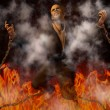 Man Chained in Hell — Stock Photo