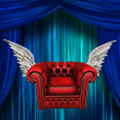 Stock Photo: Winged comfort chair