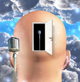 Micrófono en mente — Foto de Stock