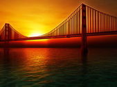 Golden Gate Bridge Illustration — Stock Photo