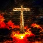 Cross in Sky — Stock Photo