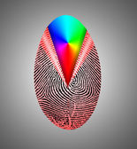 Rainbow Fingerprint — Stock Photo