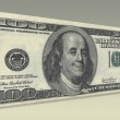 US Hundred Dollar bill with Smiling Ben Franklin — Stock Photo #27213393