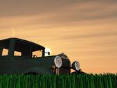 Antique Truck Sun — Stock Photo