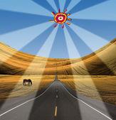 главы дорога вдаль с солнцем чайлдс — Стоковое фото