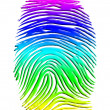 Rainbow Finger Print — Stock Photo