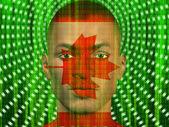 Canada Male with Binary Code — Stock Photo