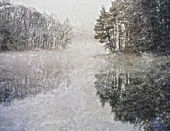 Nature winter background — Stock Photo
