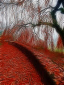 Impressionist autumn scene — Stock Photo