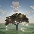 Idea tree with arrow clouds — Stock Photo #29419755
