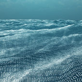 Vast binary code Sea — Stock Photo