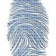 Genetic Latter Finger Print Isolated on White — Stock Photo