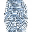 Stock Photo: Genetic Latter Finger Print Isolated on White