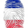 Stock Photo: French Flag Finger Print