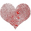 Finger Print Heart — Stock Photo