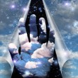 Sky peels apart revealing hand of clouds — Stock Photo #29421537