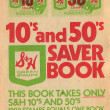 SH Trading Stamps Saver Book — Stock Photo