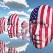 Stock Photo: USFlag Faces