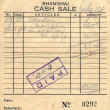 Stock Photo: United Seamans Service Shanghai Cash Sale Receipt Circ1950's