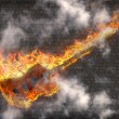 Burning Guitar — Stock Photo