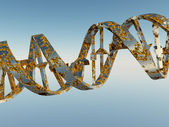 Damaged DNA Strands — Stock Photo