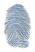 Genetic Latter Finger Print Isolated on White — Stock Photo