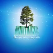 Barcode Tree — Stock Photo