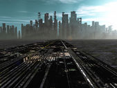 Road to death city — Stockfoto