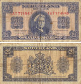 Netherland Two and One Half Gulden — Stock Photo