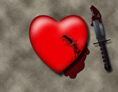 Stabbed Heart — Stock Photo