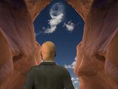 Businessman Vision Quest — Stock Photo