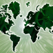 Stock Photo: World map of green colors