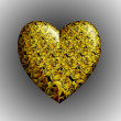 Yellow roses heart — Stock Photo