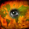 Tear shed for world — Stock Photo