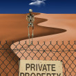 Skeletal Figure in Desert — Stock Photo
