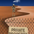 Stock Photo: Skeletal Figure in Desert