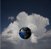 World Wide Web and globe — Stock Photo