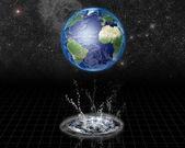 Earth Water Emerge — Stock Photo