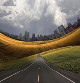 Road to City — Stockfoto
