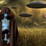 utomjordisk invasion — Stockfoto