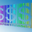 Dollar Rainbow Bar Code — Stock Photo #29443075