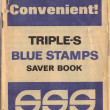 Triple-s Trading Stamps Booklet — Stock Photo
