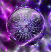 Electric enclosed in sphere — Stock Photo