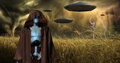 Invasão alienígena — Foto Stock