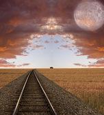 Paesaggio surreale — Foto Stock