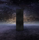 Strange Monolith on Lifeless Planet — Stock Photo