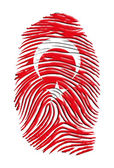 Turkish Flag Fingerprint — Stock Photo