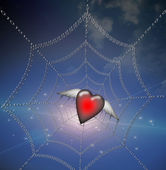 Heart in Binary Web — Stock Photo